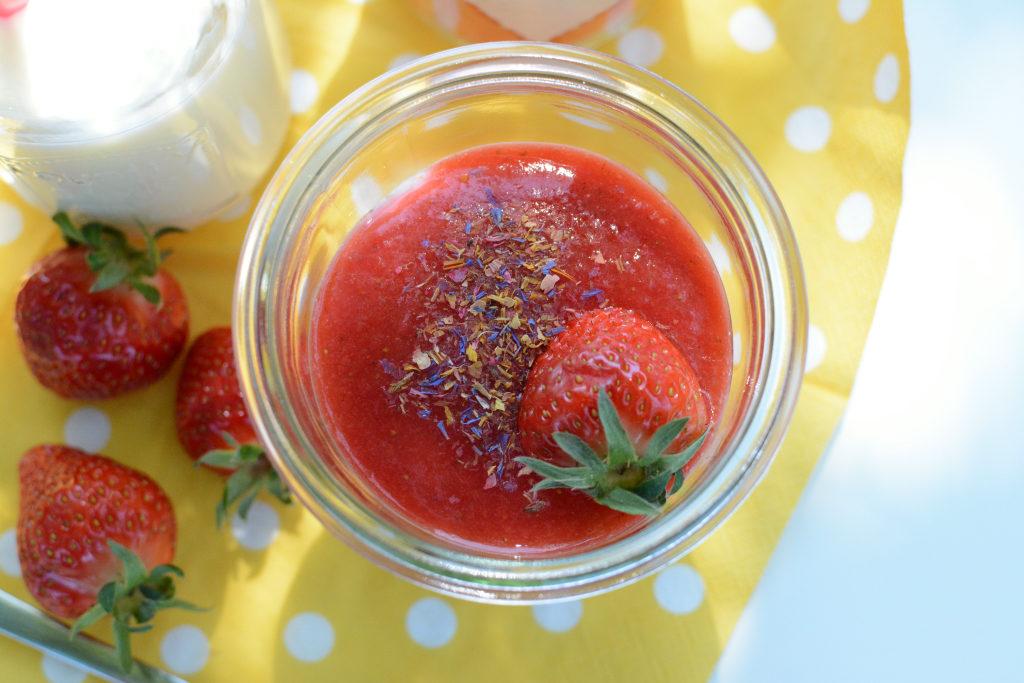 Erdbeeren Topfen