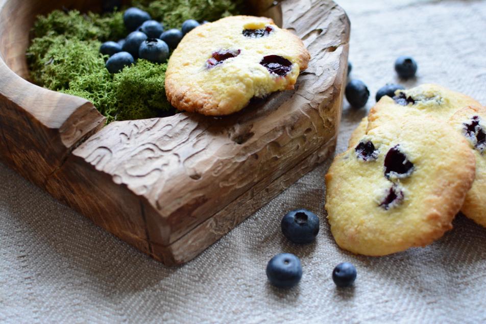 sommerliche Heidelbeer-Cookies