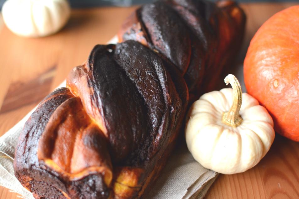 Kürbis Babka mit Schokolade