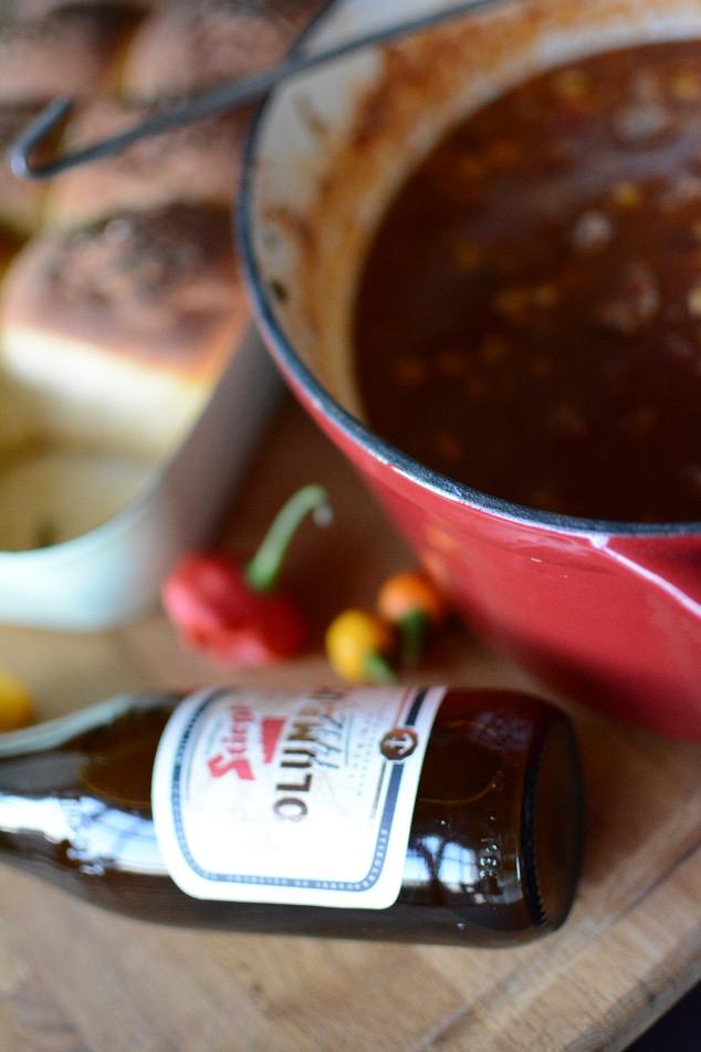 Chili con cerveza mit Stiegl Columbus 1492