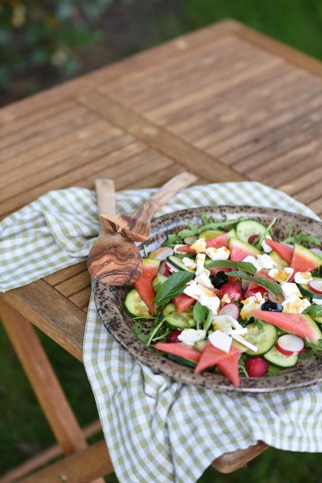 Sommersalat mit Wassermelone und Feta