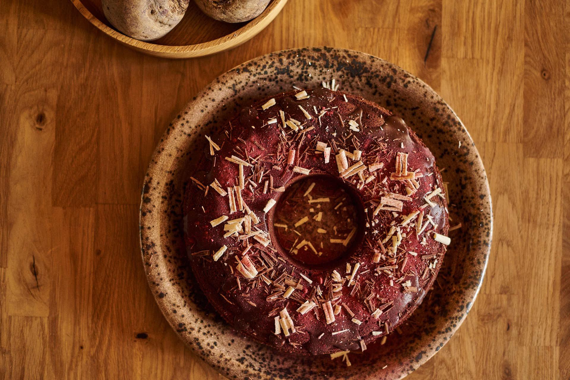 Rote Rüben im Kuchen?