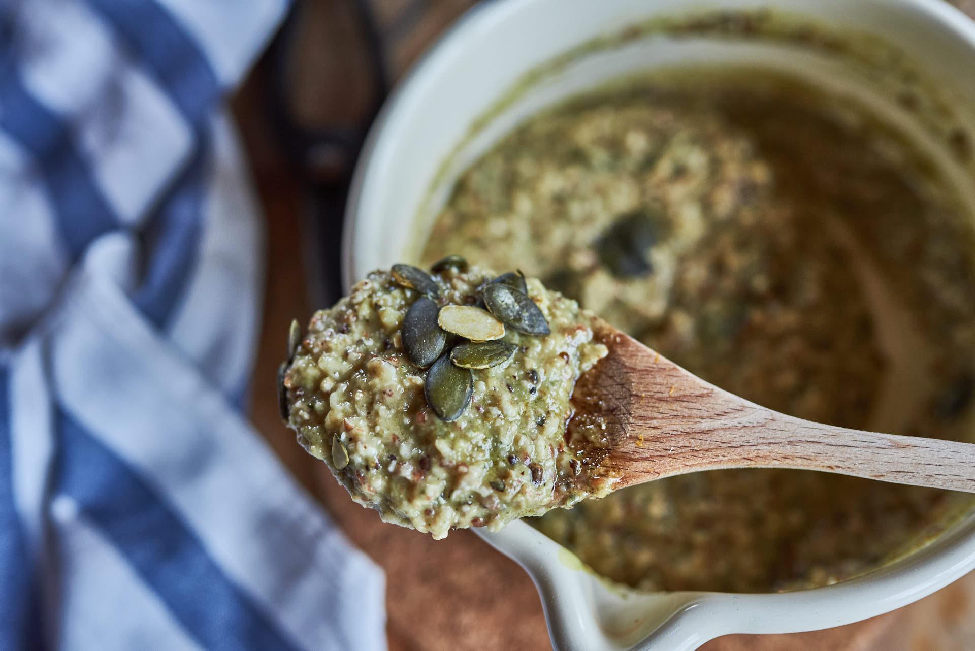 Porridge mit Kernöl