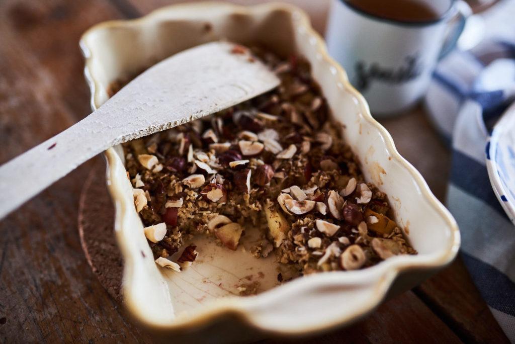 Müsliauflauf Kuchen zum Frühstück